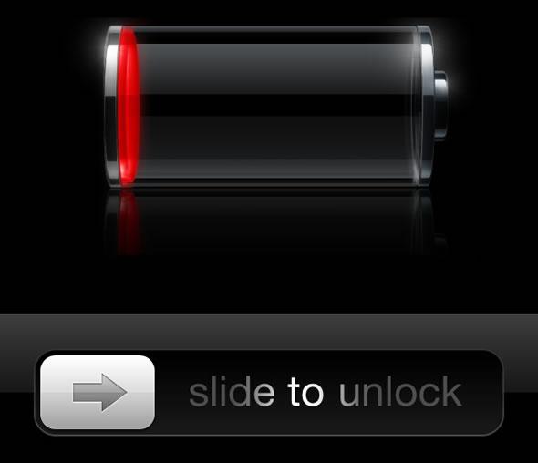 Разряжена батарея в iPhone