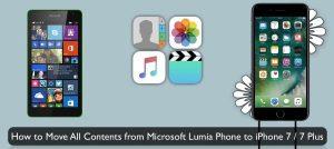 транспортировка данных с Nokia Lumia на iPhone