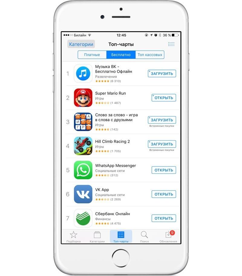 топ App Store
