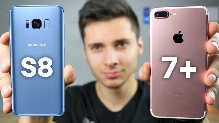 Samsung Galaxy S8 и iPhone 7