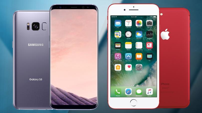 Samsung Galaxy S8 сравнение с iPhone 7