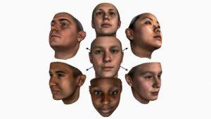 цифровая модель человеческого лица.