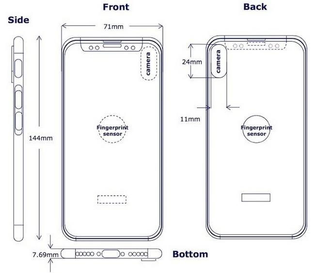 утечка схематичных чертежей iPhone 8