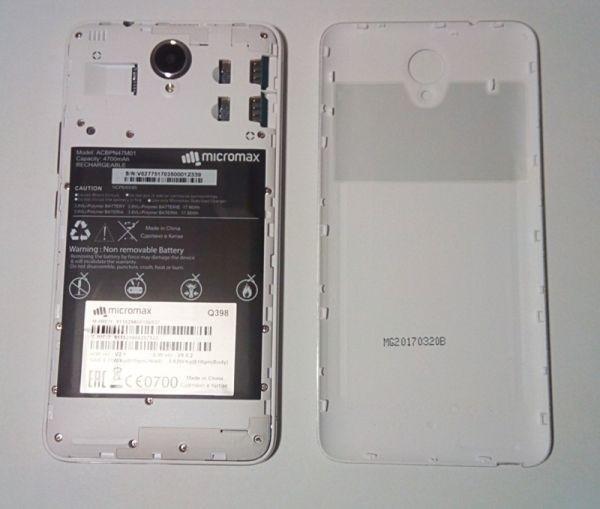 Аккумулятор в Micromax Q398