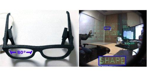 голографический дисплей в виде очков